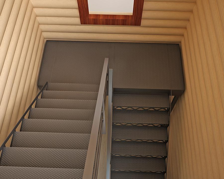 Лестница на косоурах.