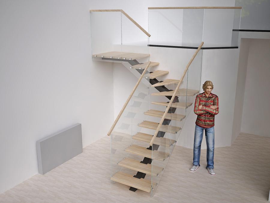 Лестница на косоуре.