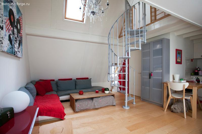 "Чугунная лестница, модель ""Амстердам"", диаметр 145 см"