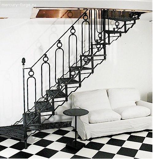 "Чугунная лестница, модель ""Тулуза"""