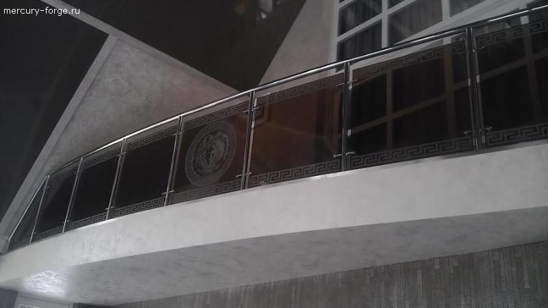 Ограждение со стеклом